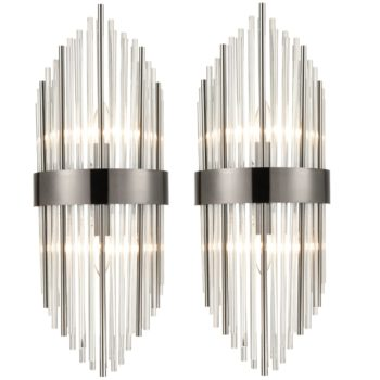 Modern Flute Shape Glass Wall Sconces 2-Pack Wall Sconce Lighting