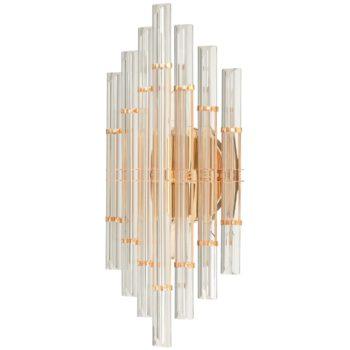 Modern Gold Brass Crystal Wall Sconce Lighting Fixture