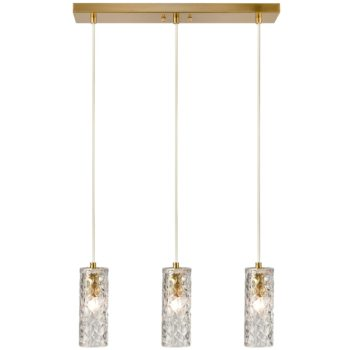 Modern Kitchen Pendant Lighting Brass Glass Hanging Lights