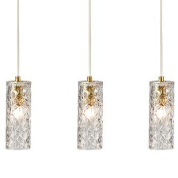 Modern Kitchen Pendant Lighting Brass Glass Hanging Lights