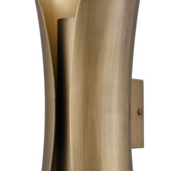 Modern Brass Wall Sconce 2 Light Bath Light Fixture