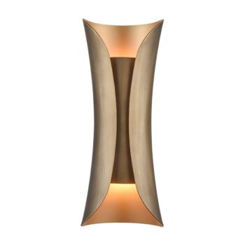 Modern Brass Wall Sconce 2 Light Bath Light Fixture