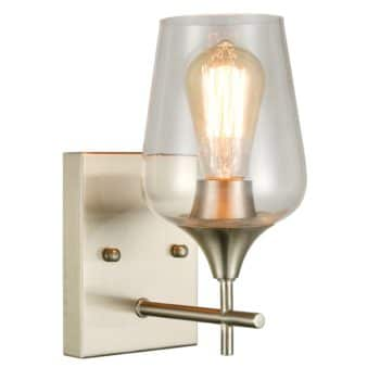 Modern Wall Sconces Brushed Nickel Bathroom Wall Sconces
