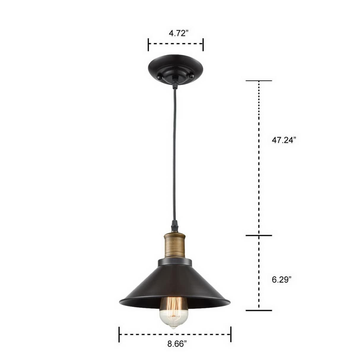 Industrial Bronze Pendant Light 3 Pack mini Loft Fixture
