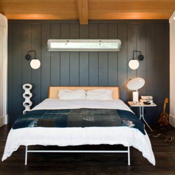 Plug-in Black Wall Sconce Opal Globe Glass Modern Wall Sconce