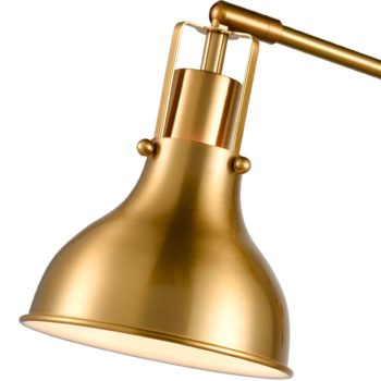 Plug-in Wall Sconces Set of Two Swing Arm Brass Wall Lamp