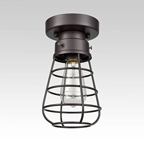 Retro Flush Mount Ceiling Light Loft Barn Cage Fixture