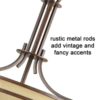 Rustic Bronze Foyer Pendant Chandelier Scavo Glass-5 Lights