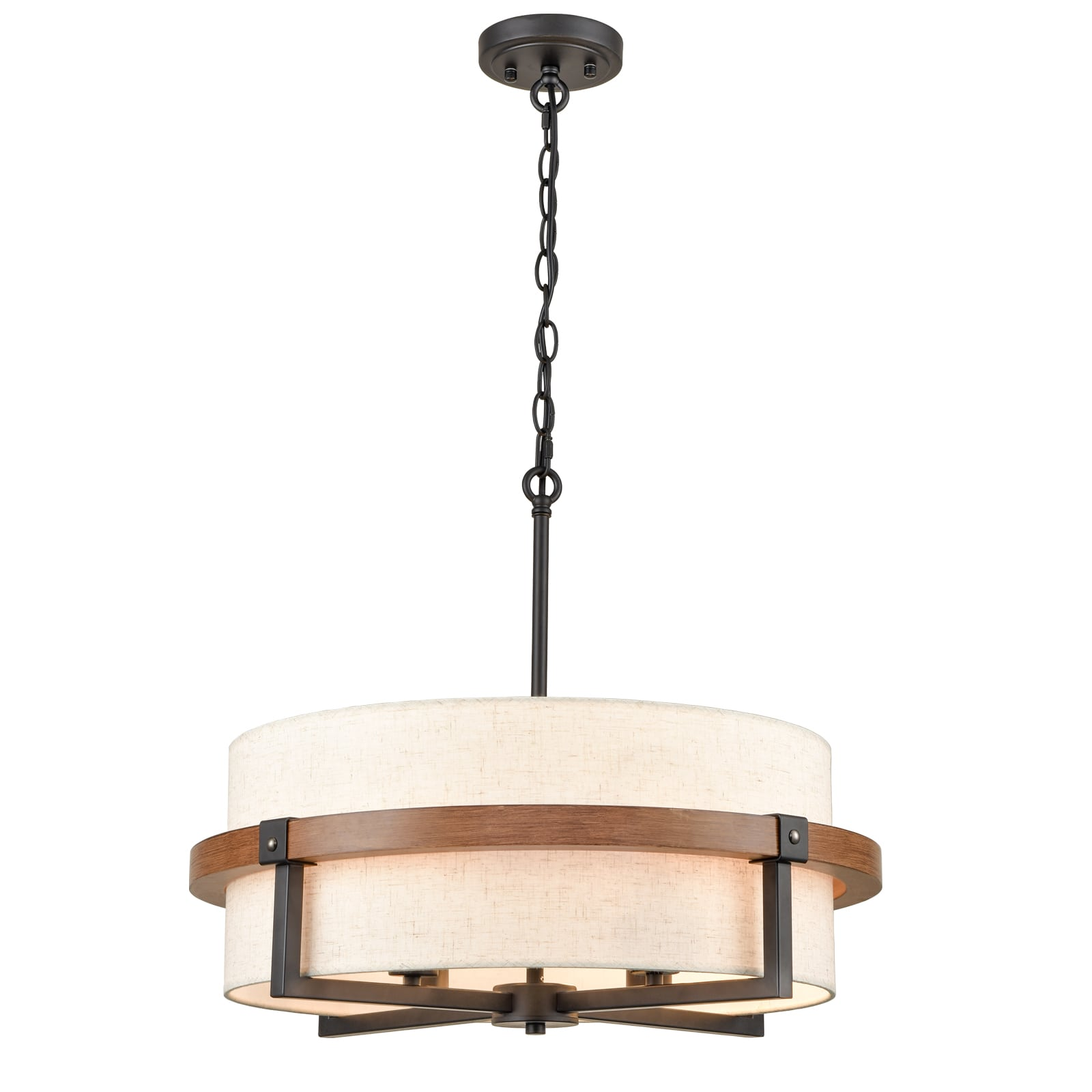 Rustic Drum Chandelier For Dining Room, Rustic Dining Room Chandeliers