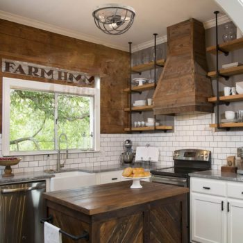 Rustic Flush Mount Ceiling Lights Distressed Wood Finish