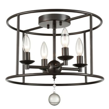 Rustic Metal Drum Ceiling Lights Kitchen Ceiling Fixtures