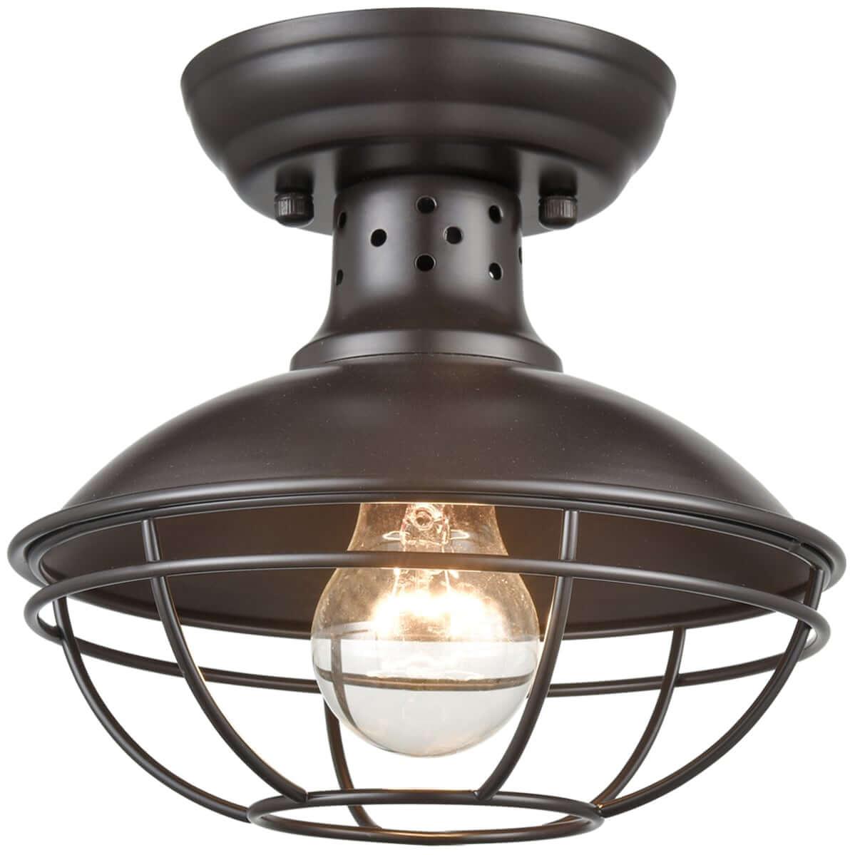 Farmhouse Mini Metal Cage Semi Flush Ceiling Lights