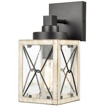 Seeded Glass Shade Wall Light Modern Outdoor Lights Fixtures