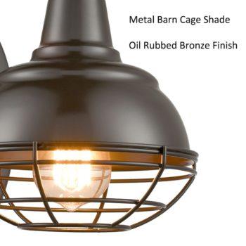 Vintage Gooseneck Barn Light Wall Sconces Oil Rubbed Bronze 2-Pack