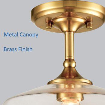 Vintage Metal Glass Ceiling Light Pendant Lighting Gold Finish