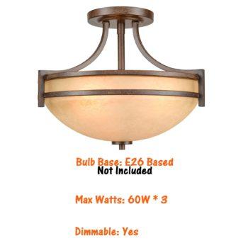 Vintage Semi Flush Mount Ceiling Light Scavo Glass Ceiling Light Fixture