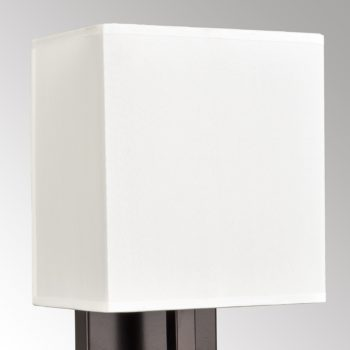 Vintage Single Wall Lamp Orb Finish with White Fabric Shade Bedside