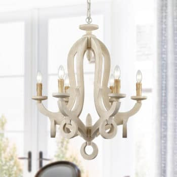 Weathered Cottage Chandelier 6 Light Candle Foyer Fixture