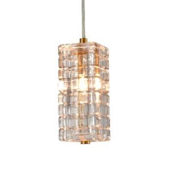 Modern Brass Glass Pendant Lights Crystal Glass Shade