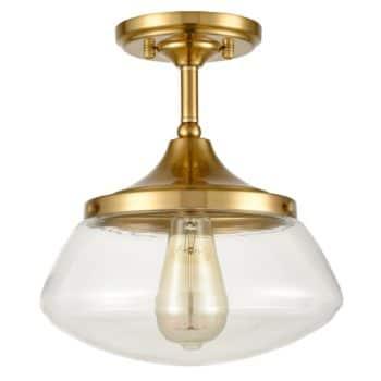 Modern Brass Semi Flush Mount Ceiling Light Fixture