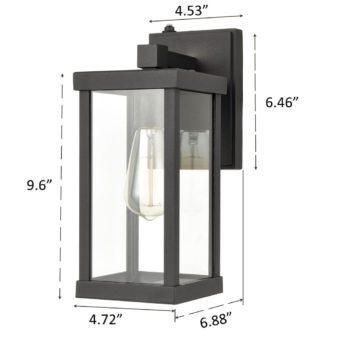 2-Pack Waterproof Outdoor Wall Sconces Dusk to Dawn Sensor