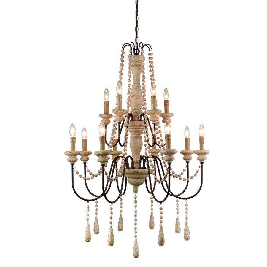 French Country Luxury Chandelier Light Fixture with 12 Lights