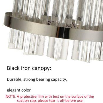Modern Crystal Wall Sconces Titanium Black Wall Lights Fixture