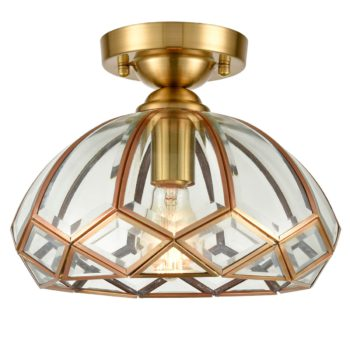 Glass Ceiling Light Dome Shape Vintage Ceiling Lighting Fixture