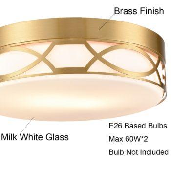 Gold Flush Mount Ceiling Light Fixture Modern Glass Ceiling