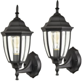 Industrial 1-Light Outdoor Wall Sconces Porch Light Set of Two