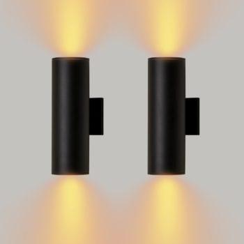 Industrial 2-Light Outdoor Wall Sconces Indoor Wall Light Set of Two