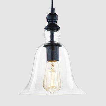 Matte Black Glass Pendant Light Fixture Hanging Ceiling Light