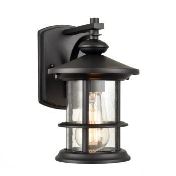 Wall Sconces for Outdoor use Weather-Resistant Seeded Glass Shade Modern Design Rust-Proof