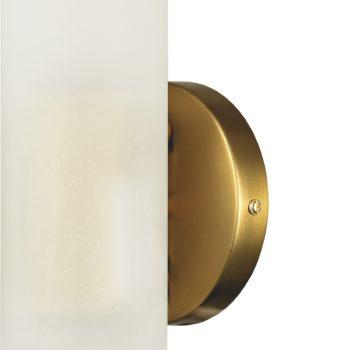Modern Brass 2-Light Cylinder Sconce Lighting Set of 2