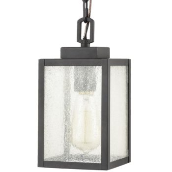 Seeded Glass Outdoor Porch Lantern Ceiling Hanging Fixture
