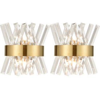 Modern Brass Crystal Wall Sconce Lighting